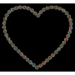 Prismatic Petals Heart 4 With Background