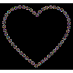 Prismatic Petals Heart 5 With Background