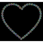 Prismatic Petals Heart 7 With Background