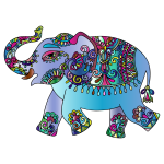 Prismatic Playful Elephant 3