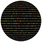Prismatic Polka Dots Mark II Sphere