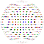 Prismatic Polka Dots Sphere No Background