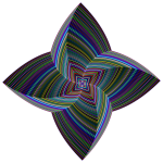 Prismatic Quadrilateral Line Art Variation 2