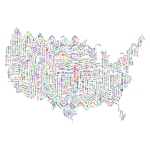 Prismatic Ripples America States And Capitals Word Cloud No Background