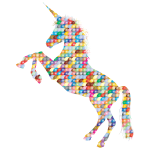 Prismatic Scales Unicorn Silhouette