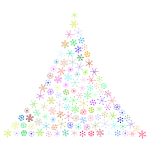 Prismatic Snowflake Christmas Tree No Background