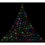 Prismatic Snowflake Christmas Tree