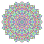 Prismatic Tiles Geometric Mandala II No Background