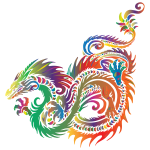 Prismatic Tribal Sea Dragon No Background