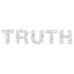Prismatic Truth Word Cloud No Background
