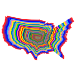 Prismatic US Map Outline Zoom 2