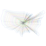 Prismatic US Map Outline Zoom No Background
