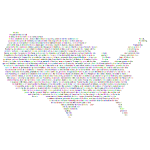 Prismatic United States Constitution Typography
