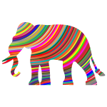 Prismatic Waves Elephant