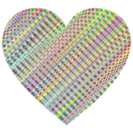 Prismatic Wavy Heart No Background