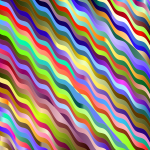 Prismatic Wavy Stripes