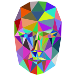 Prismatic Wireframe Head