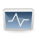 Heart monitor icon vector illustration