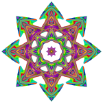 Psychedelic Geometric Star