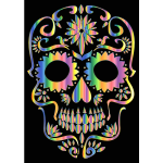 Psychedelic Sugar Skull Silhouette