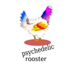 Psychedelyc rooster