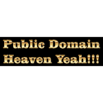 Public Domain in gold