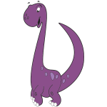 Purple dinosaur