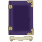 Purple Gold Tome template
