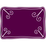 Vector drawing of purple voucher template