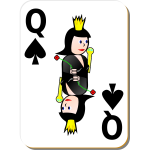 Queen of Spades gaming card vector image