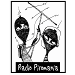 Vector illustration of radio Piromania logo