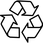 Outline recycling symbol vector clip art