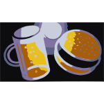 Beer and hamburger-1573564424
