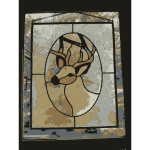REQUEST Deer Stained Glass