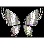 RGB Butterfly Silhouette 10 13