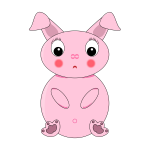 Pink rabbit image