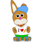 Funny bunny vector drawing