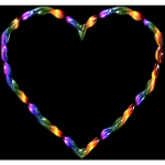 Rainbow Line Art Heart 2