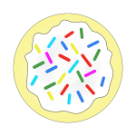 Rainbow sprinkles sugar cookie