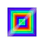 Vector illustration of multicolor square