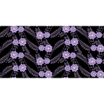 Flowery pattern on background