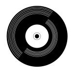 Vinyl record pictogram illustration