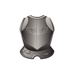 Vector graphics of armor breastplate in grayscale