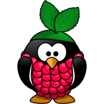 Raspberry penguin vector illustration