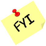 ''FYI'' on a post it