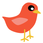 Red cardinal bird vector clip art