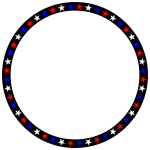Red White Blue Stars Circle