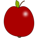 Vector clip art of tomato colour apple