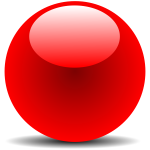 Red Chrome Button