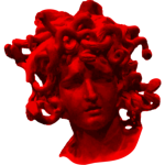 Red Medusa's head
